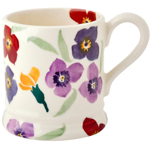 Emma Bridgewater Wallflower Earthenware Half Pint Mug
