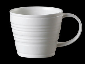 Repeat Repeat Tubby White Bone China Mug - Ribbed