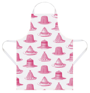 Thornback & Peel Apron, Pink Jelly and Cake Design, 100% Cotton