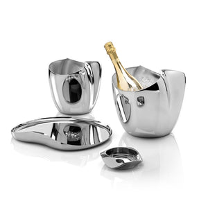 Robert Welch Drift Champagne Wine Ice Bucket Cooler Stainless Steel