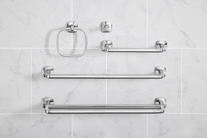 Robert Welch Burford Bathroom Towel Rail Single, Polished 18/10 Stainless Steel