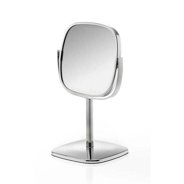 Robert Welch Burford Bathroom Free Standing Pedestal Mirror Stainless Steel