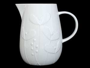 Repeat Repeat Plum Seedling White Bone China Extra Large Jug