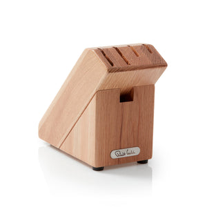 Robert Welch Compact 5 Slot Oak Knife Block for 4 knives and pair of scissors