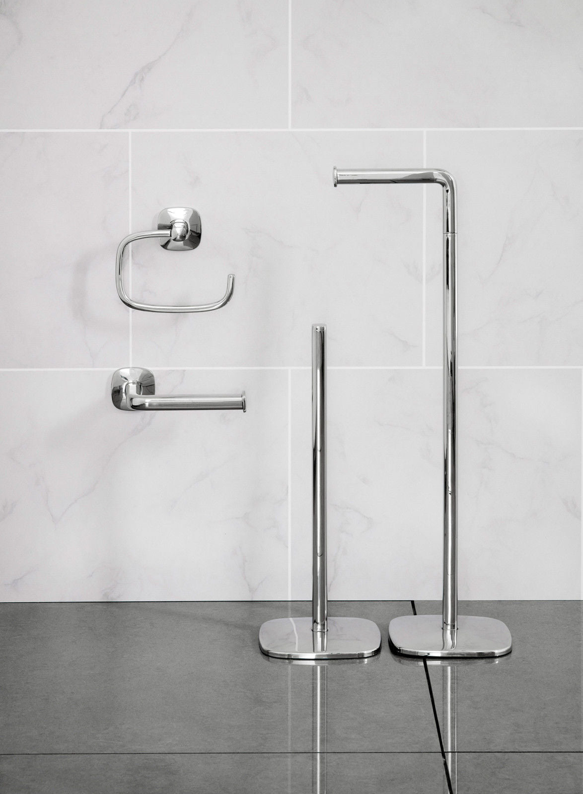 Robert Welch Burford Bathroom Toilet Roll Holder Swing, Polished ...