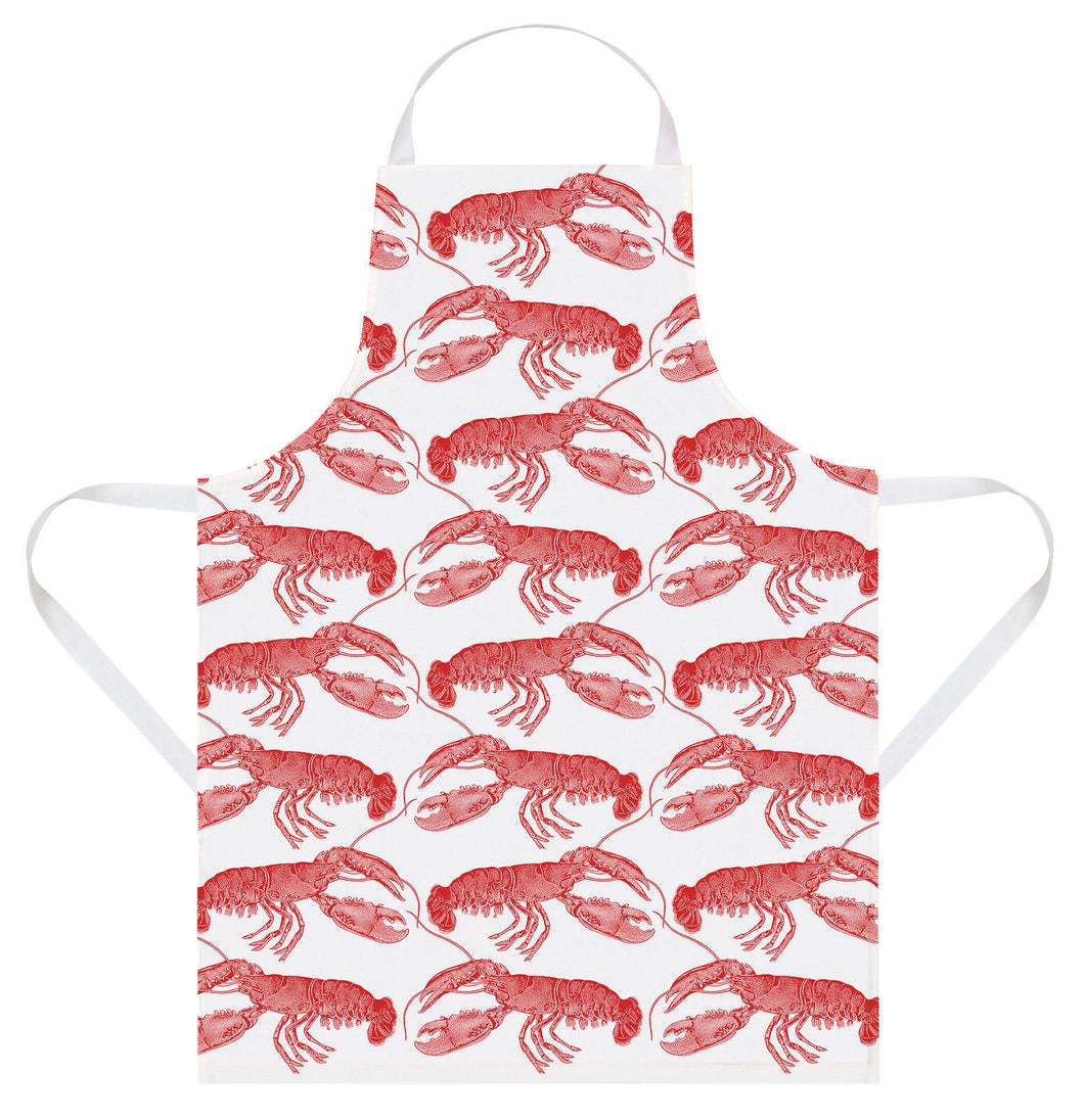Thornback & Peel Apron, Lobster Design, 100% Cotton