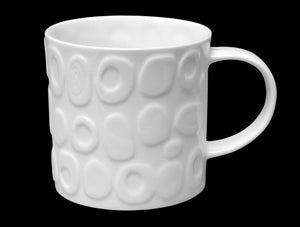 Repeat Repeat Tom Tom White Bone China Mug - Stone