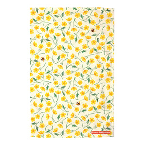 Emma Bridgewater Buttercup and Bumblebee Tea Towel, 100% Cotton
