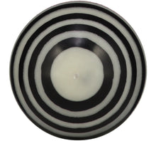 British Colour Standard Eco Fair Trade Striped Ball Candle, Jet Black & Pearl White, Large