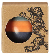 British Colour Standard Eco Fair Trade Striped Ball Candle, Marigold, Gunmetal and Opaline, Small