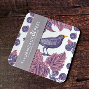 Thornback & Peel Blackbird and Bramble Design Melamine Pot Stand