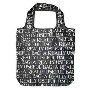 Emma Bridgewater Black Toast Reusable Fold Away Pouch Shopping Bag, Black