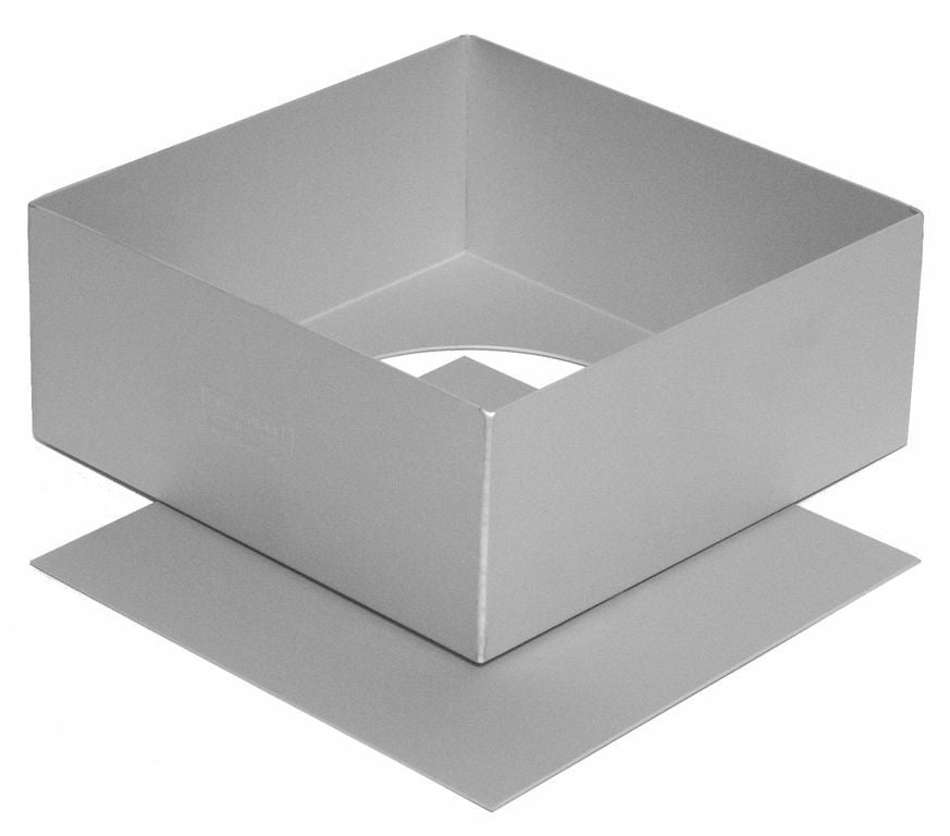 Silverwood Bakeware 25cm / 10 Inch Square Cake Tin, Loose Base