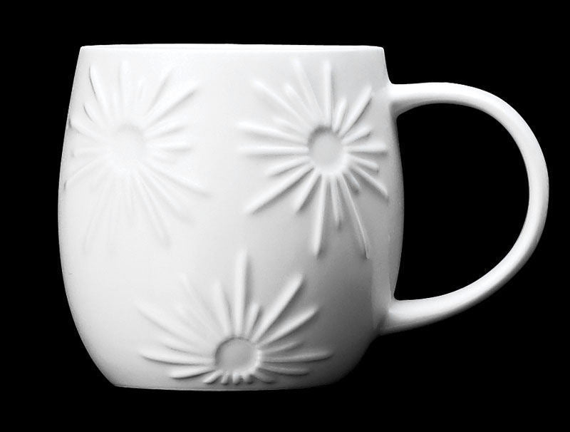 Repeat Repeat Plum White Bone China Mug - Star