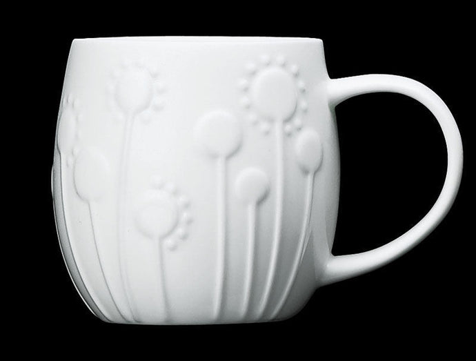 Repeat Repeat Plum White Bone China Mug - Lollipop