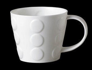 Repeat Repeat Tubby White Bone China Mug - Spots