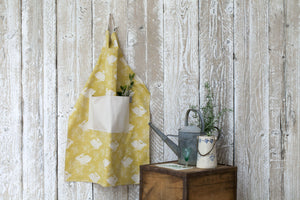 Sam Wilson Studio Headlong Hare Yellow Ochre Cotton Apron