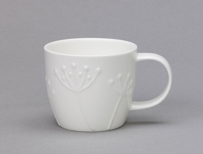 Repeat Repeat Olive White Bone China Small Mug - Sprig