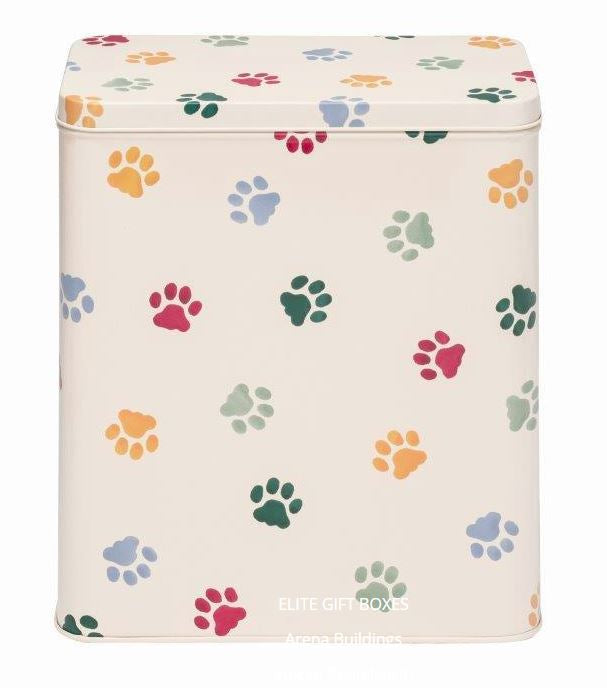 Emma Bridgewater Polka Paws Rectangular Dog Treats Storage Tin PD3033