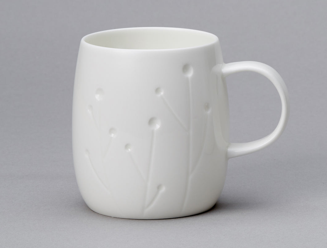 Repeat Repeat Quinto White Bone China Mug - Cotton