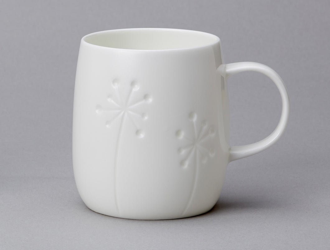Repeat Repeat Quinto White Bone China Mug - Dandelion