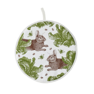 Thornback & Peel Apron, Rabbit and Cabbage Design, AGA® Hob Cover Single Pad