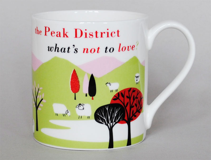 Repeat Repeat 'The Peak District What's Not To Love?' Large Bone China Mug