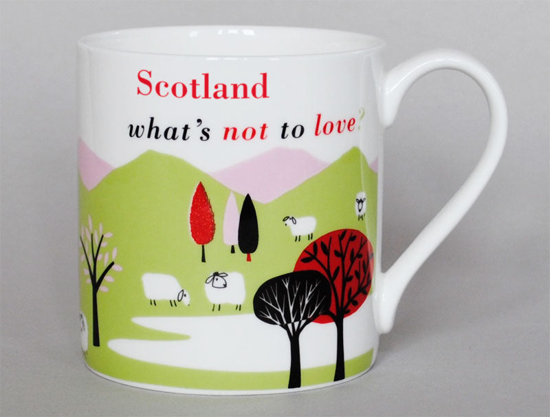 Repeat Repeat 'Scotland What's Not To Love?' Large Bone China Mug