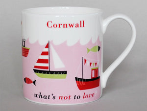 Repeat Repeat 'Cornwall What's Not To Love?' Large Bone China Mug