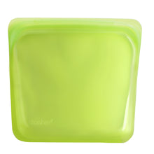 Stasher Plastic-Free Reusable Sandwich Bag with Airtight Seal, 100% Silicone,  Lime