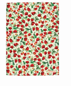 Emma Bridgewater Vegetable Garden Strawberries Tea Towel, 100% Cotton