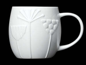 Repeat Repeat Plum White Bone China Mug - Meadow