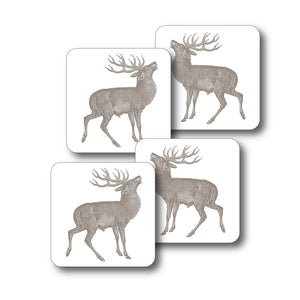 Thornback & Peel Stag Design Melamine Coaster, Set of 4