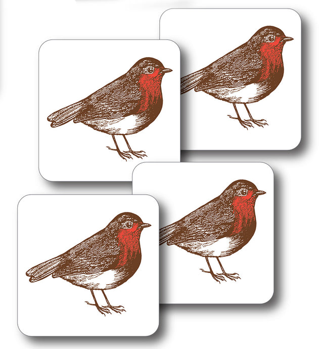 Thornback & Peel Robin Design Melamine Coaster, Set of 4