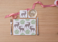 Thornback & Peel Stag and Mistletoe Design Melamine Placement, Set of 4