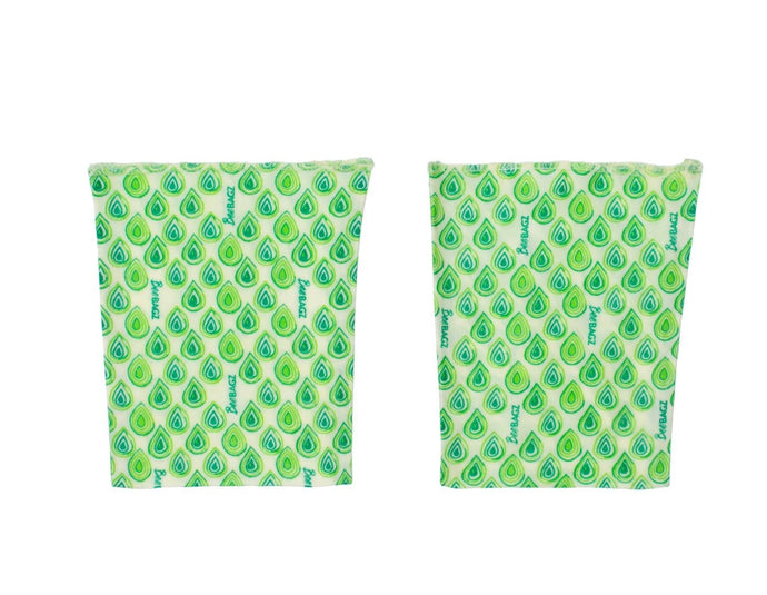 BeeBAGZ Reusable Beeswax Wrap Food Bags Sandwich Pack, 2 Medium, Green