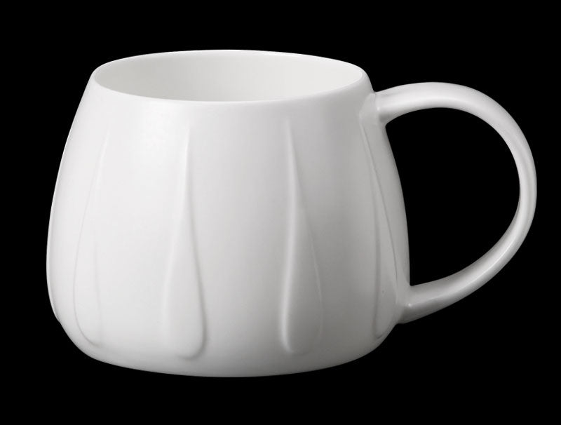 Repeat Repeat Tulip White Bone China Mug - Jewel