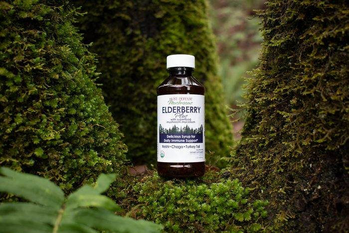 Elderberry Plus Syrup: Elderberries and Mushroom Mycelium