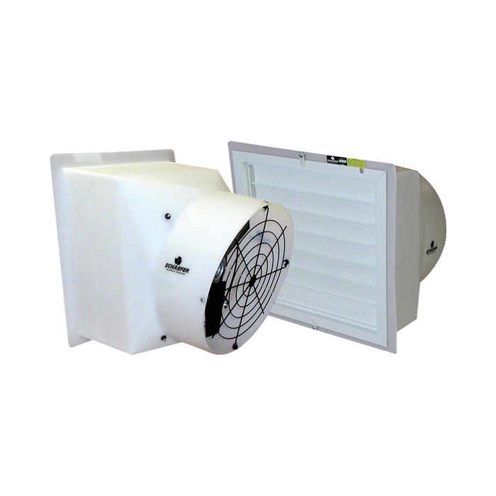 1/3 HP 16 in Shuttered Flush-Mount Ducted Fan