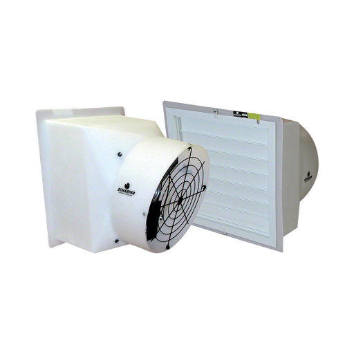 1/6 HP 9 in Shuttered Flush-Mount Ducted Fan