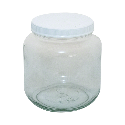 ½ Gallon Glass Jars with Lids - Set of 6