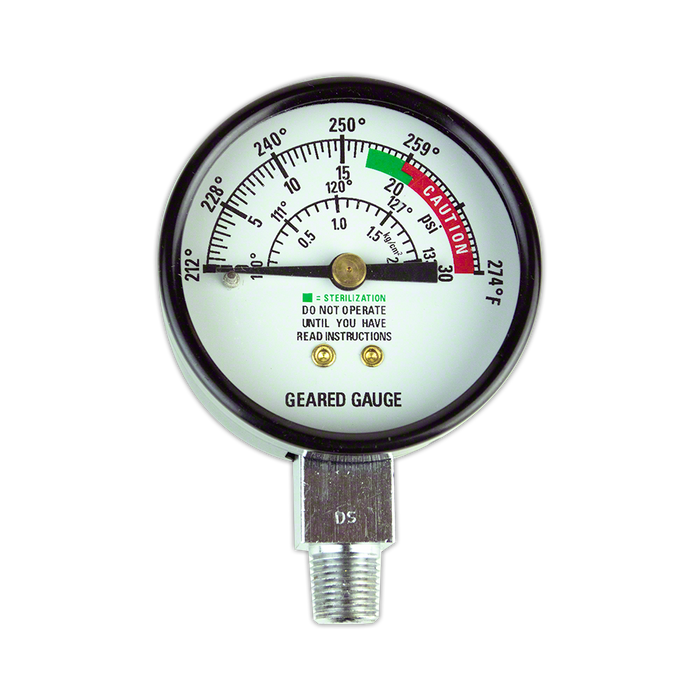 Replacement Pressure Gauge for Pressure Sterilizers
