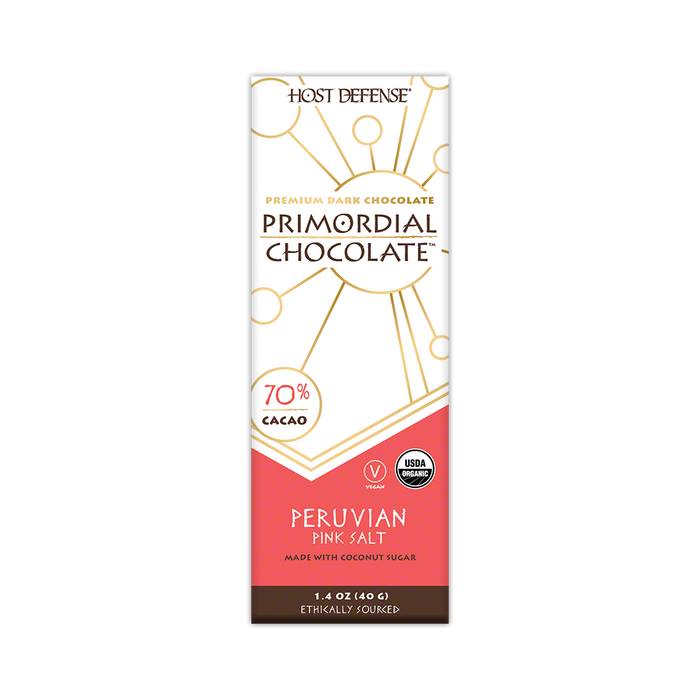 "Primordial Chocolateâ""¢ - Peruvian Pink Salt - Host Defense Mushrooms"