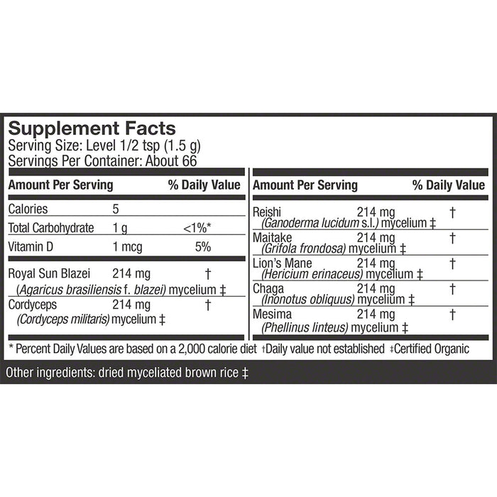 Host Defense® Stamets 7 Powder Supplement Facts