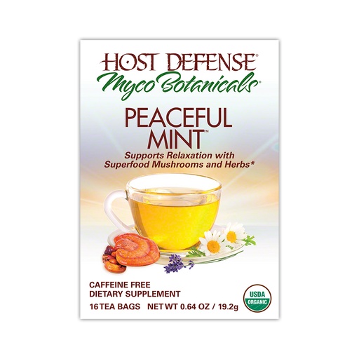 MycoBotanicals® Tea - Peaceful Mint™ - Host Defense Mushrooms