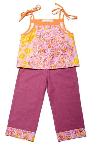 Summer Capri Set - Plum