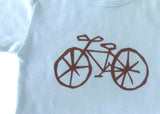 Bicycle tee (soft blue)