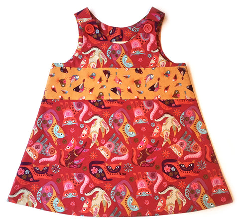 Caterpillar Dress - Crazy Cats!