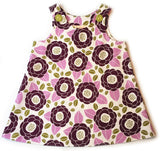Caterpillar Dress - Purple Blossoms