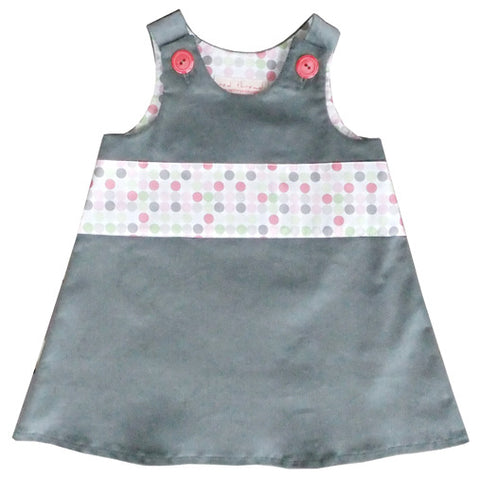 Caterpillar Dress - Silver Grey